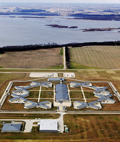 An aerial view of the Thomson Correctional Center near the Mississippi River Monday, Nov. 16, 2009 in Thomson , Ill