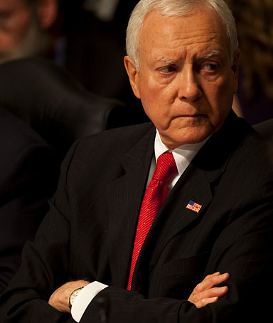 Senate Finance Committee member, Sen. Orrin Hatch, R-Utah,