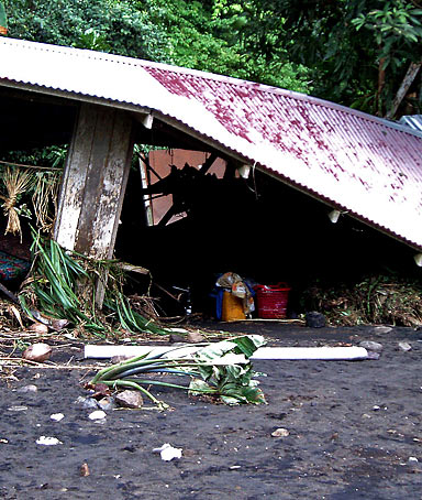 �A quake conjures up memories, and people immediately begin going to higher ground.� Peter Marshall, police commissioner on the Solomon Islands, where a tsunami left 1,000 people homeless.