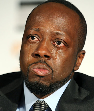 Haitian-born musician Wyclef Jean is overcome with emotion while discussing his recent visit to earthquake-stricken Haiti and how is organization, Yele Haiti, is helping with relief efforts, Monday, Jan. 18, 2010, in New York