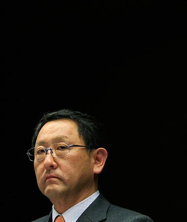 Toyota Motor Corp President Akio Toyoda attends a news conference in Nagoya, central Japan February 5, 2010. Toyota Motor Corp President Toyoda apologised on Friday for a