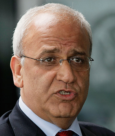 I'm really pleased with the fact that the international community and the U.S. now have a realization of the side that is trying to obstruct the peace process.