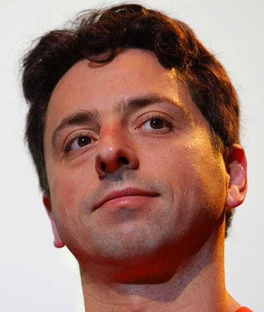 Google co-founder Sergey Brin listens to a question during a panel discussion in Mountain View, California February 9, 2010