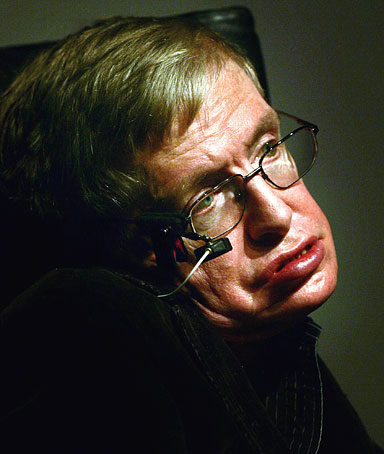 Theoretical physicist professor Stephen Hawking is pictured before his lecture on the creation of the Universe at the European Organization for Nuclear Research (CERN) in Meyrin near Geneva September 9, 2009