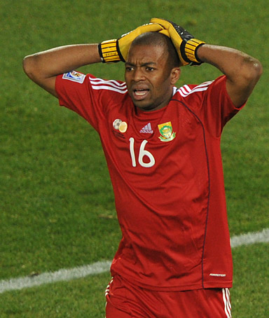 �I think they deserve an apology because they were there for us as a team so I think for something like that to happen was not nice to anyone.� ITUMELENG KHUNE, South African goalkeeper, on receiving a red card.