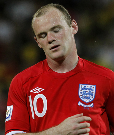 England's Wayne Rooney reacts during the World Cup