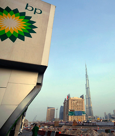 Any time you have a 50 percent drop in a stock price people will take notice of it. SAUD MASUD, of the Swiss bank UBS, said of BP's CEO Tony Hayward's trip to Abu Dhabi to meet with the wealthy emirate's crown prince.