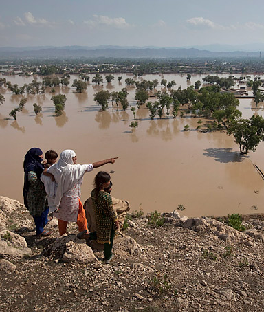�We are in grave danger. There is water on one side and hunger on the other.� Mahi Bacchi, a woman who is affected by major floods in Pakistan that have left 13.8 million people without homes, food or water.