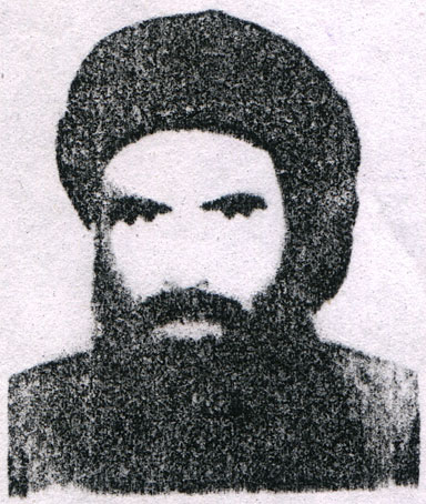 Mullah Omar, chief of the Taliban, is shown in this headshot photo.