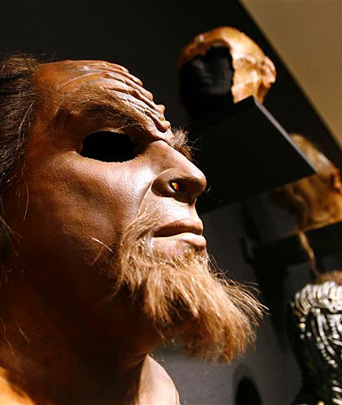 A Klingon mask used as a prop from the television series