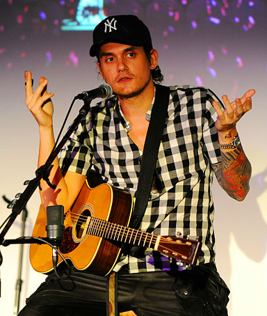 John Mayer performs at radio station Y 100 Underground concert series on September 11, 2010 in Miami, Florida.