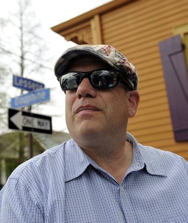 In this March 25, 2009 file photo, author, screenwriter and producer David Simon works on the New Orleans set of his project, <i>Treme</i>, set in post-Hurricane Katrina. Simon is among 23 recipients of this year's MacArthur Foundation