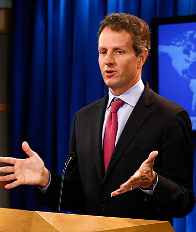�We are much closer to seeing a clear path out.� TIMOTHY GEITHNER, U.S. treasury secretary, in a statement on AIG�s plan to repay its bailout.