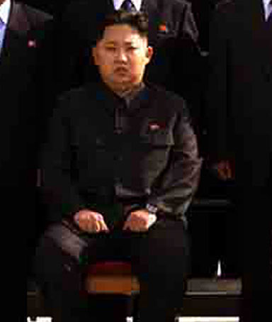 North Korean state media released a photograph on September 30 of the reclusive state's leader-in-waiting Kim Jong-un.