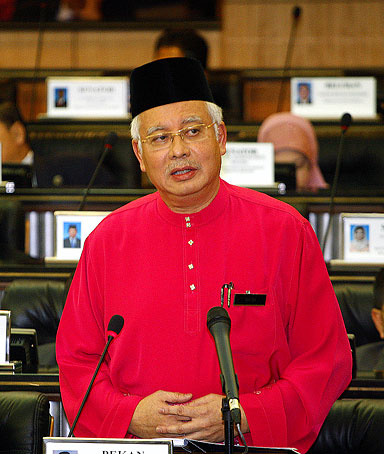 Malaysian Prime Minister and Finance Minister Najib Razak speaks as he unveils Malaysia's 2011 budget at the Parliament house in Kuala Lumpur, Malaysia on Oct. 15, 2010
