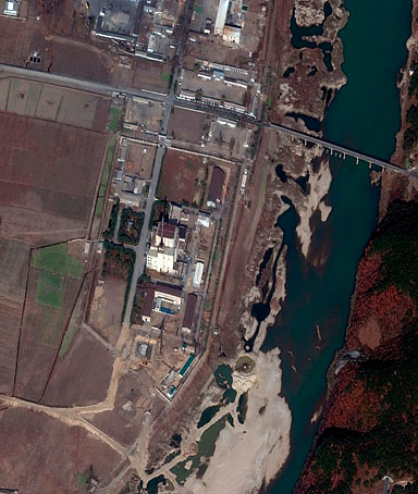 A DigitalGlobe Satellite image shows construction at the North Korea's Yongbyon Nuclear complex in North Korea on November 4, 2010, released to Reuters on November 19, 2010