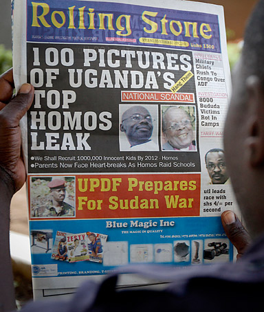 We'd had enough because we were in lots of danger already. Then [Uganda's newspaper] Rolling Stone went a notch higher by calling for the hanging of gay people. We