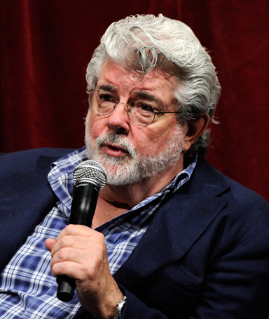 Filmmaker George Lucas attends a digital filmmakers forum at Caesars Palace during CinemaCon, the official convention of the National Association of Theatre Owners, March 30, 2011 in Las Vegas, Nevada