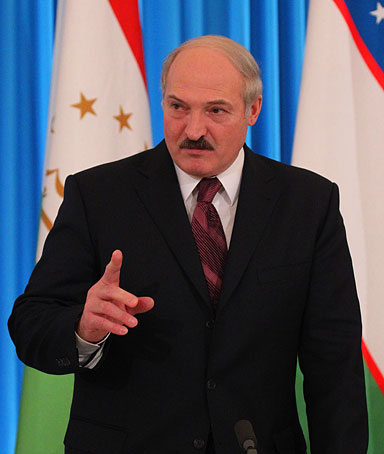 Belarussian President Alexander Lukashenko speaks during a press conference at the The Collective Security Treaty Organisation or CSTO, on December, 10, 2010 in Moscow, Russia.