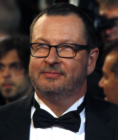 Director Lars Von Trier arrives on the red carpet for the screening of the film
