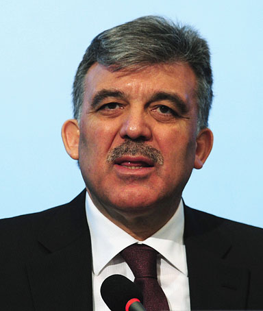 Turkish President Abdullah Gul answers a question during a press conference in Istanbul on May 9, 2011