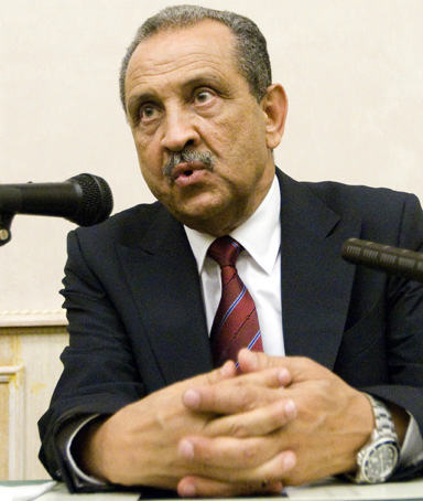 Libya's National Oil Corp head Shokri Ghanem attends a news conference in Rome June 1, 2011