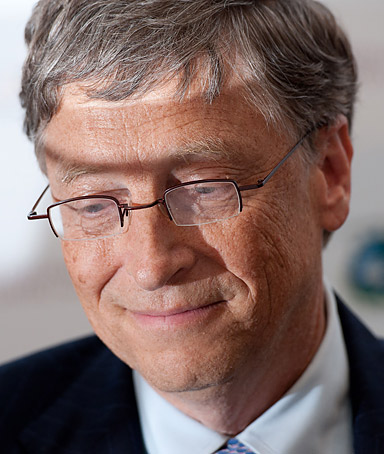 Microsoft tycoon Bill Gates at the Global Alliance for Vaccines and Immunisation conference, in London on June 13, 2011.
