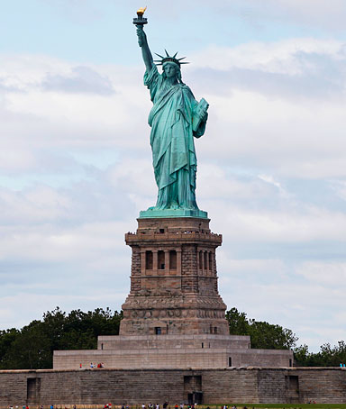 The Statue of Liberty in the New York Harbor