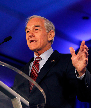 U.S. Rep. Ron Paul (R-TX) speaks during the Republican Leadership Conference in New Orleans, Louisiana June 17, 2011.