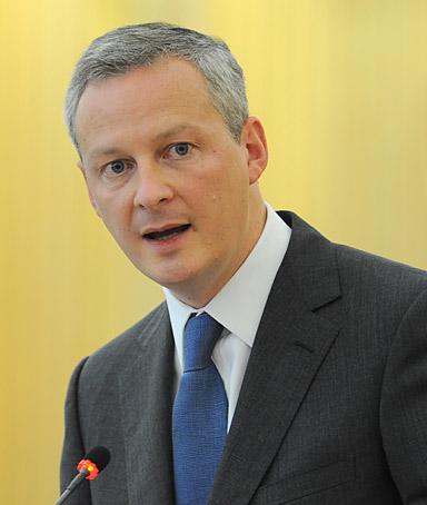 French agriculture minister Bruno Le Maire speaks during emergency talks on the crisis at the United Nations Food and Agriculture Organization (FAO) on July 25, 2011 in Rome.