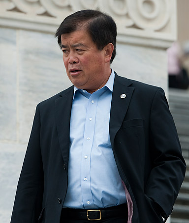 Rep. David Wu, D-Ore., walks down the House steps as Congress wraps up a series of votes in the Capitol on Friday, May 13, 2011.