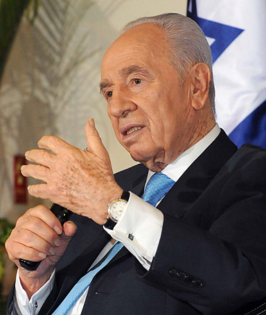 Israeli Government Press Office, Israeli President Shimon Peres holds a press conference for the Arabic media ahead of the month of Ramadan on July 26, 2011 in Jerusalem, Israel.