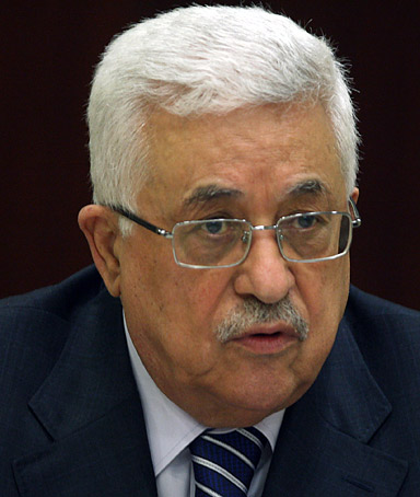 Palestinian leader Mahmoud Abbas heading the Palestine Liberation Organisation (PLO) executive committee meeting in the West Bank city of Ramallah on September 8, 2011.
