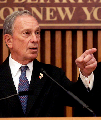 New York Mayor Michael Bloomberg (left) and Commissioner of the New York City Police Department Raymond Kelly speak to the media along with at a news conference to discuss a new terrorist threat on September 8, 2011 in New York City