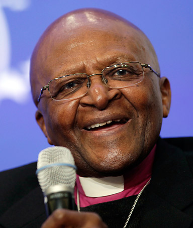 Archbishop Desmond Tutu speaks at the Clinton Global Initiative, Tuesday, Sept. 20, 2011 in New York.