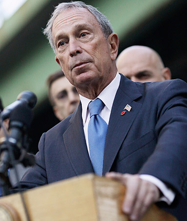 New York City Mayor Michael Bloomberg speaks during a news conference on October 3, 2011 in New York.