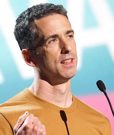 Dan Savage appears onstage at the 15th Annual Webby Awards in New York, Monday, June 13, 2011.