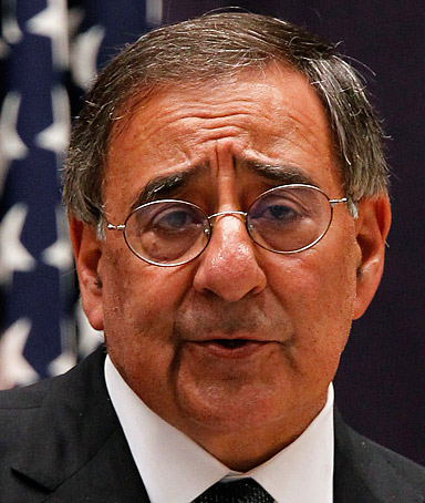 U.S. Defense Secretary Leon Panetta speaks during a joint news conference with Japan's Defence Minister Yasuo Ichikawa (not pictured) at the Defense Ministry in Tokyo October 25, 2011.