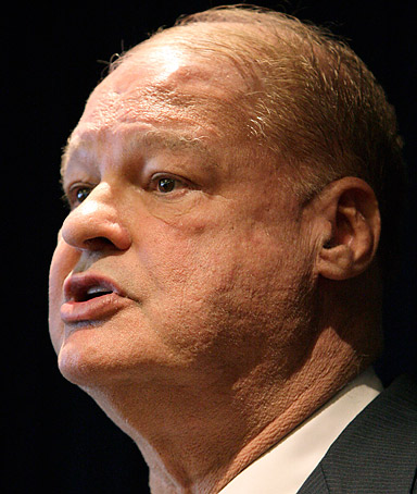 Arizona Attorney General Tom Horne talks during a news conference on Monday, May 9, 2011, in Phoenix.