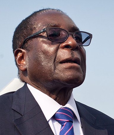 Zimbabwean President Robert Mugabe waits during a ceremony celebrating the independence of southern Sudan in Juba on July 8, 2011.