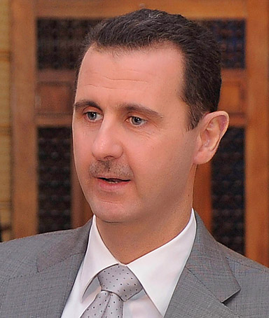 President Bashar al-Assad is pictured during an interview with Russian television in Damascus October 30, 2011 in this handout photograph released by Syrian national news agency SANA.