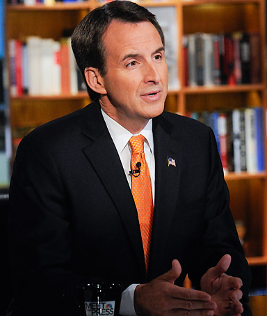 Former Gov. Tim Pawlenty appears on