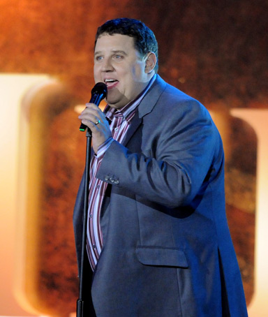 Peter Kay performs live on stage during the Heroes Concert at Twickenham Stadium, in aid of the charity Help For Heroes, on September 12, 2010 in London, England