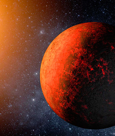 An artist's rendering shows a planet called Kepler-20e in this handout released December 20, 2011