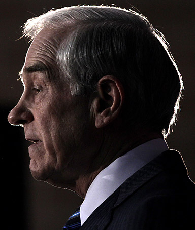 Republican presidential candidate, Rep. Ron Paul, R-Texas, speaks during a campaign stop at the Iowa State Fairgrounds in Des Moines, Iowa Wednesday, Dec. 28, 2011.