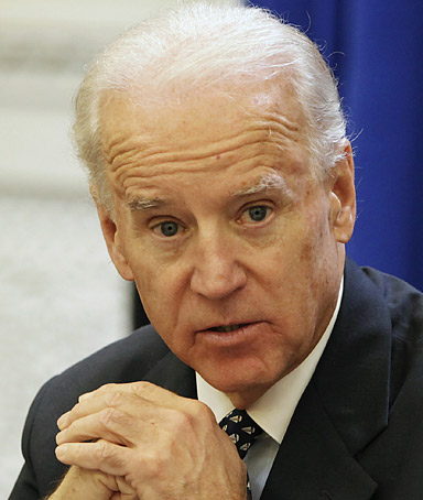 U.S. Vice President Joe Biden speaks during a Cabinet meetingin the Eisenhower Executive Office Building next to the White House in Washington December 13, 2011