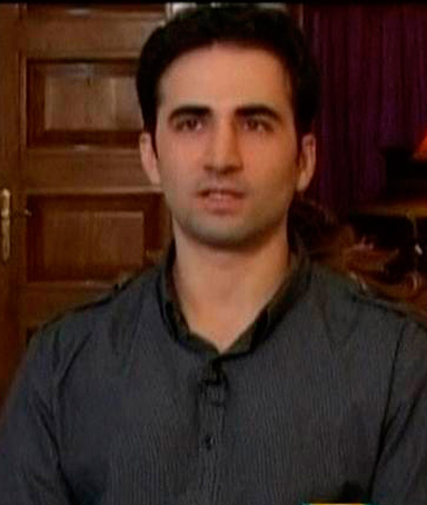 Iranian-American Amir Mirza Hekmati, who has been sentenced to death by Iran's Revolutionary Court on the charge of spying for the CIA, speaks during a recorded interview, made available to Reuters TV on January 9, 2012