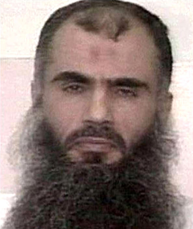 A file image relesead by the SITE Intelligence Group on March 27, 2009, shows Jordanian national Abu Qatada
