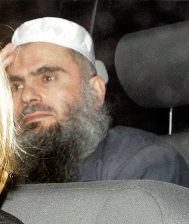Abu Qatada is driven from Long Lartin Prison in South Littleton, central England, February 13, 2012