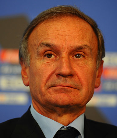 Italian Olympic Committee President Gianni Petrucci looks on during the FIFA Beach Soccer World Cup opening press conference at the Stadium del Mare on September 1, 2011 in Ravenna, Italy.